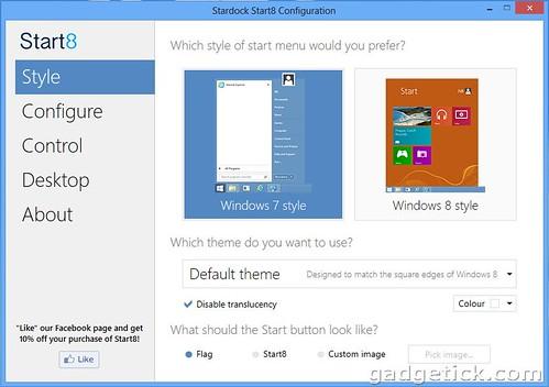 как вернуть Пуск в Windows 8