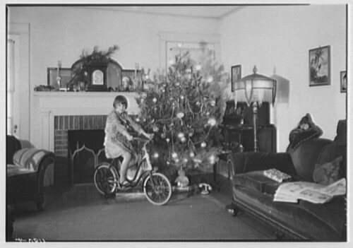 """Christmas of 1930"" (with bike & tree)"