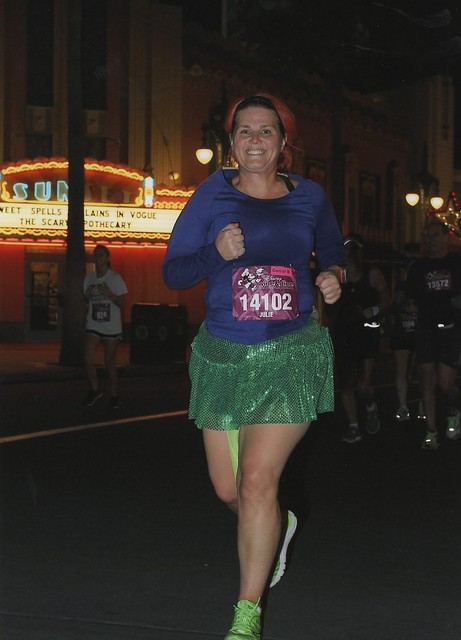 @AngryJulie running Disney's Wine and Dine Half Marathon 2012