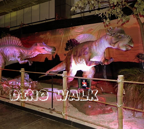 Artificial Animatronic Dinosaur made by handwork