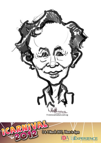 digital live caricature for iCarnival 2012  (IDA) - Day 1 - 14