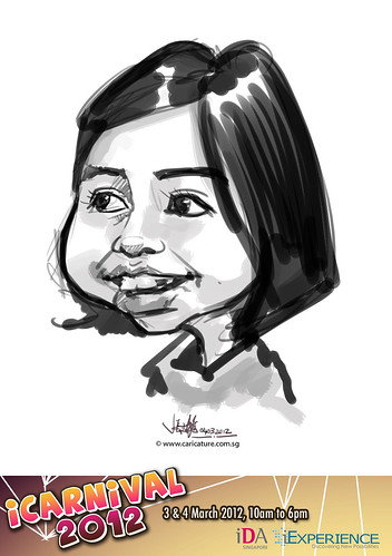 digital live caricature for iCarnival 2012  (IDA) - Day 2 - 66