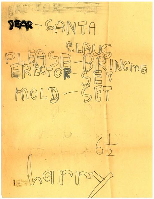Santa letter from 1948