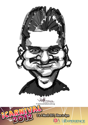 digital live caricature for iCarnival 2012  (IDA) - Day 1 - 96