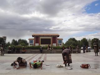 Praça Principal de Shigatse Tibete