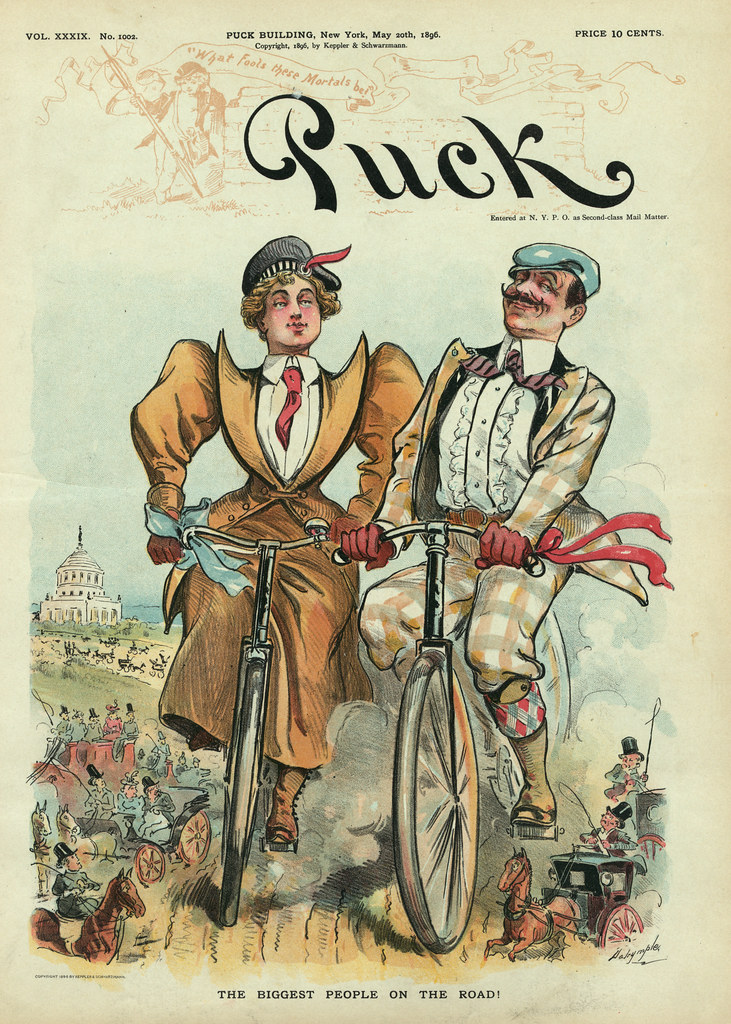 """The Biggest People on the Road!"": PUCK May 1896"