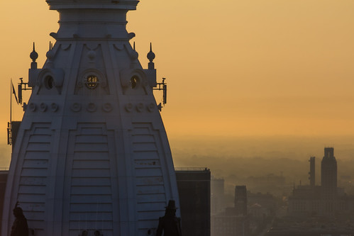 orange sun philadelphia skyline sunrise canon cityscape cityhall philly broadstreet canon7d