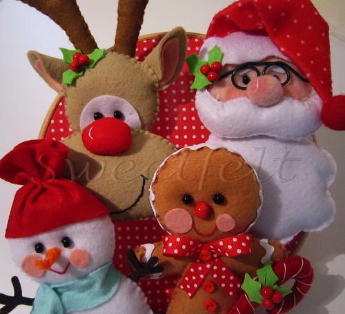 ♥♥♥ FELIZ NATAL!! JOYEUX NOEL!!! HAPPY CHRISTMAS!!!! by sweetfelt \ ideias em feltro