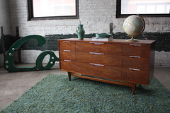 "Refined Kent Coffey ""The Tableau"" Mid Century Modern Triple Dresser (U.S.A., 1960's)"