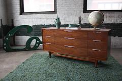 """Refined Kent Coffey """"The Tableau"""" Mid Century Modern Triple Dresser (U.S.A., 1960's)"""