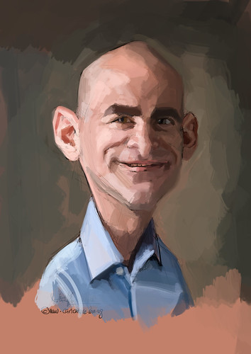 digital caricature of SRonen Samuel for Hewlett Packard - 2