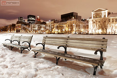 Winter in old Montreal