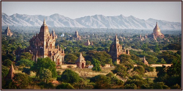 in the gentle light of late afternoon ........Bagan
