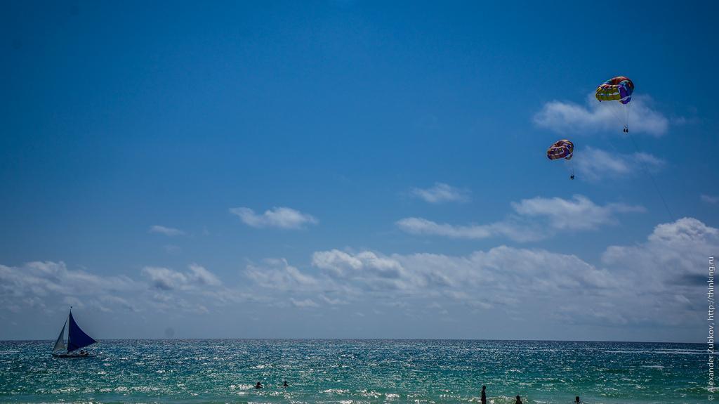Вид на океан на острове Боракай