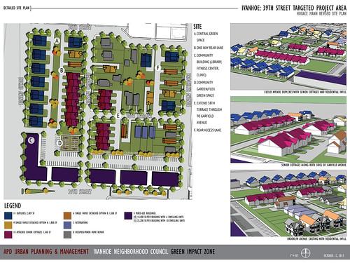 39th St housing plan, Ivanhoe neighborhood (courtesy of APD Urban Planning & Management)