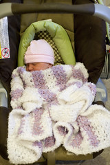 All bundled up for first trip