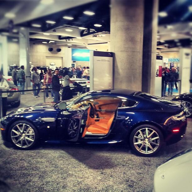 2012 Aston Martin Vantage Interior: Aston Martin Vantage #AMU #SanDiegoAutoShow Navy Blue On