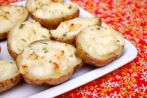 Twice-Baked Sour Cream & Chive Potatoes