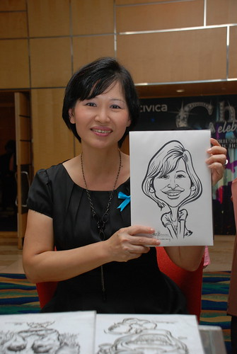 caricature live sketching for Civica Dinner & Dance 2012 - 9