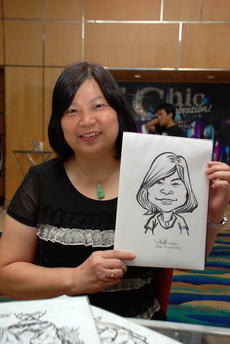 caricature live sketching for Civica Dinner & Dance 2012 - 11
