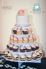 W9121 ranunculus mini wedding cake toronto
