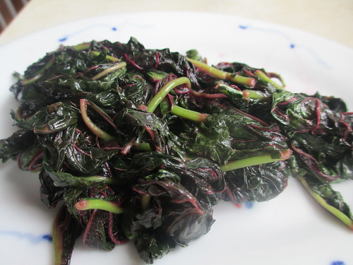 Amaranth stir fried with fish sauce