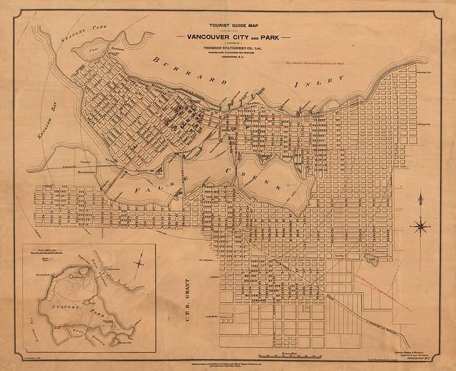 Vancouver Tourist Map 1898