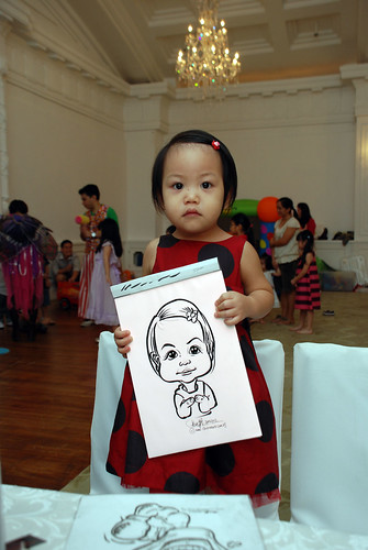 caricature live sketching for birthday party 28042012 - 9