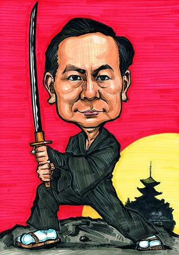 Samurai caricature