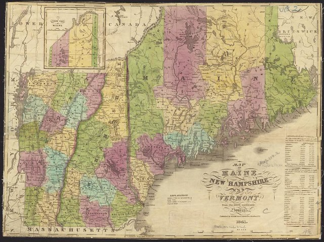Map Of Maine New Hampshire And Vermont From The Most