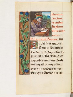Evangelist portrait of St. Mark in a 16th century manuscript