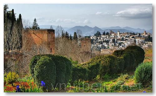 Alhambra com Granada ao fundo by VRfoto