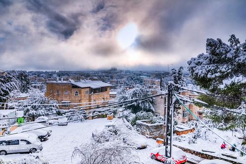 snow israel jerusalem hdr photomatix katamon itaybarlev