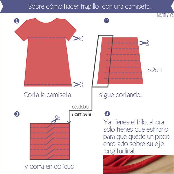 Como hacer trapillo con camisetas