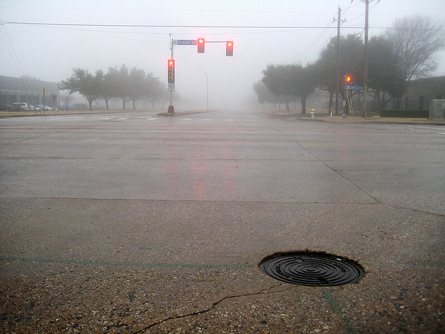 Red Light In The Fog