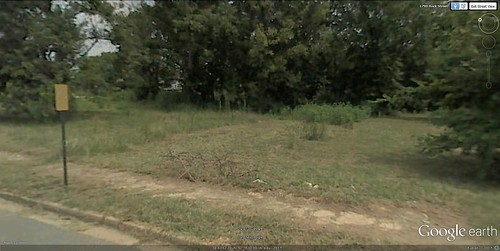 the site of the Pettaway Pocket Neighborhood (via Google Earth)