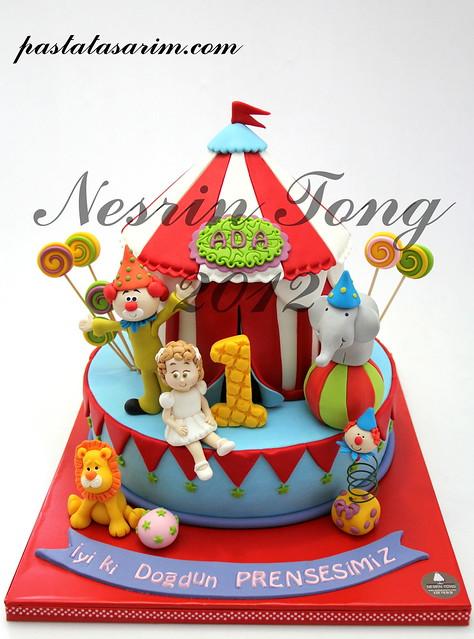 circus birdhday cake