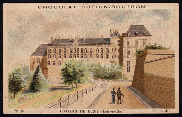 French Tradecard - Chateau De Blois