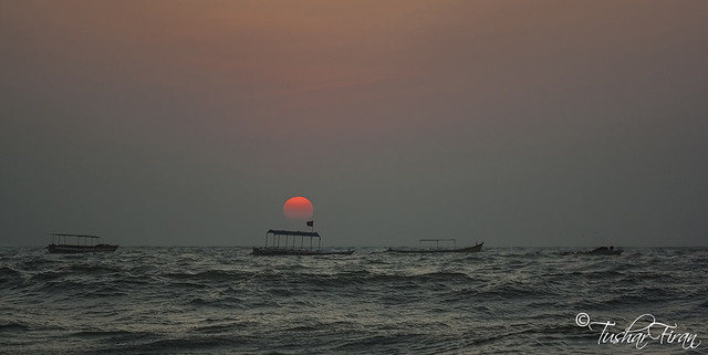 Sun Set At Anjuna Beach