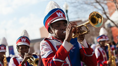 Marching bands at the 2013 Krewe of Harambee MLK Day Mardi Gras Parade in Shreveport