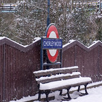 Snow at Chorleywood station