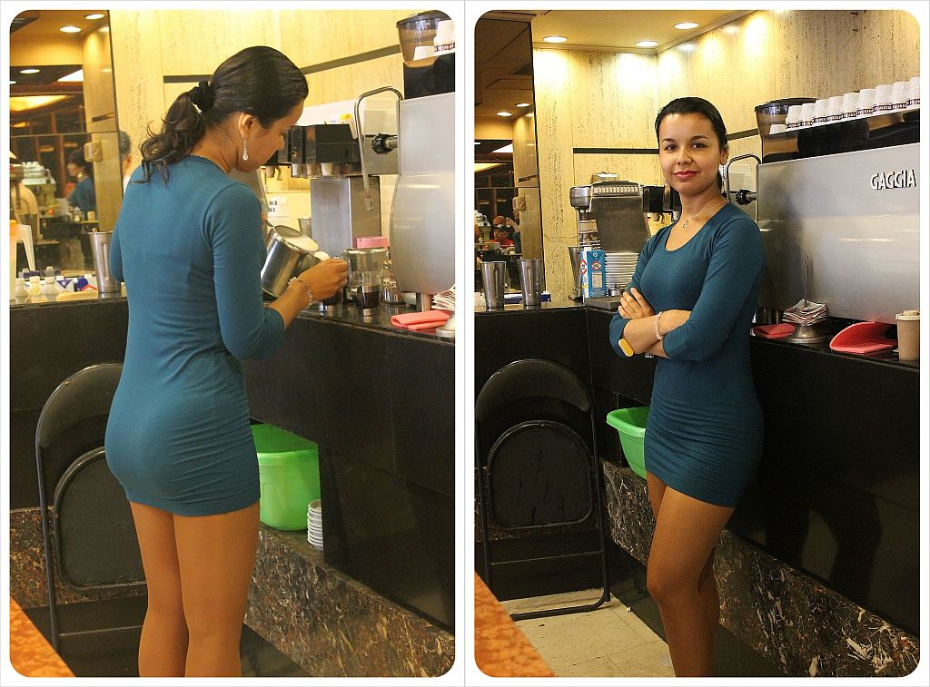 coffee with legs waitress