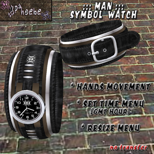 [$60L PROMO] *P* Man Symbol Watch