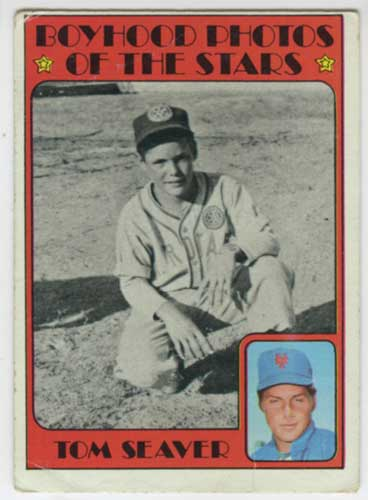 1972 Topps Tom Seaver Boyhood Photos of the Stars