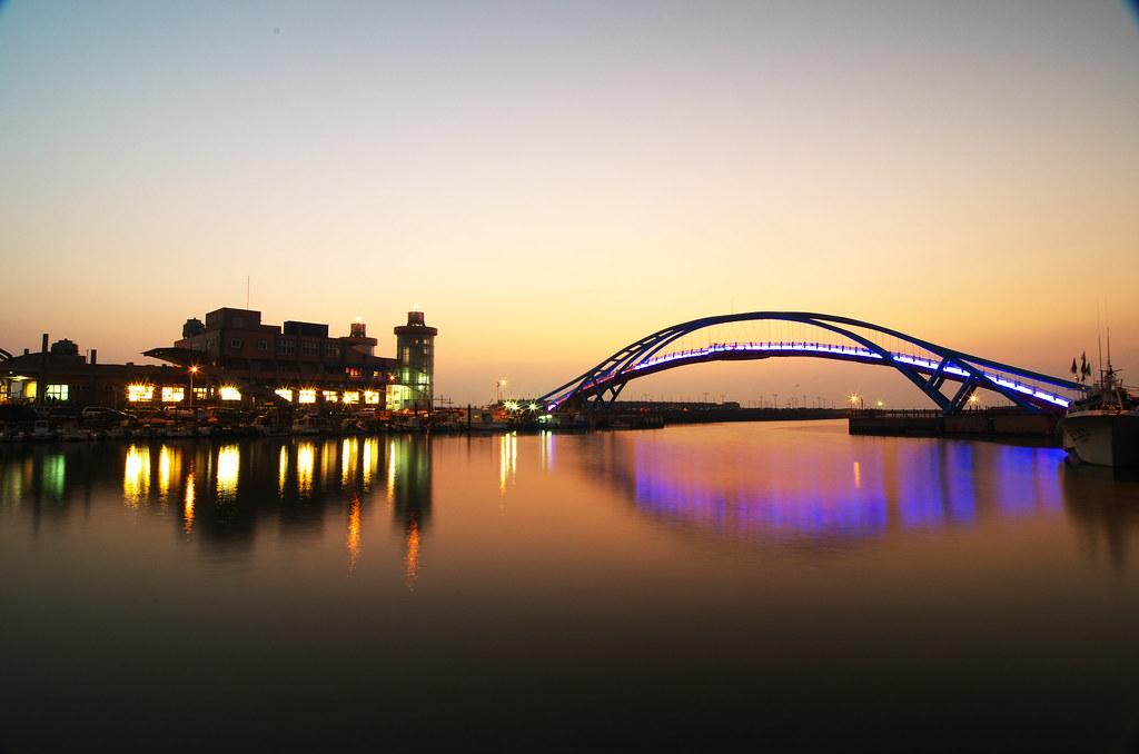 永安漁港日落色溫