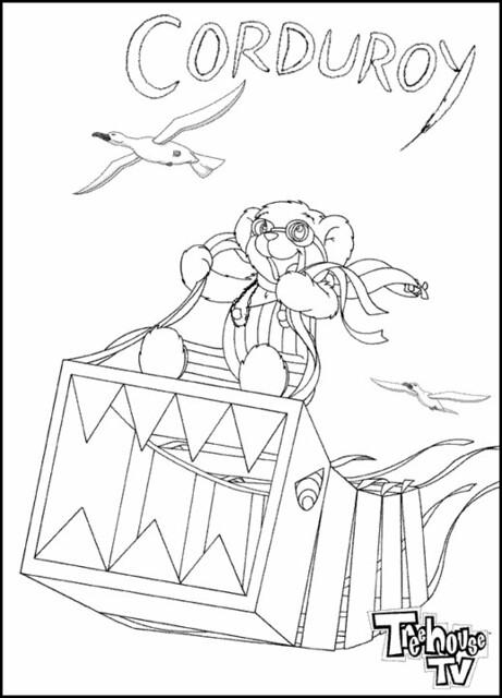 Free Printable Corduroy Bear Coloring Sheet Sketch ...
