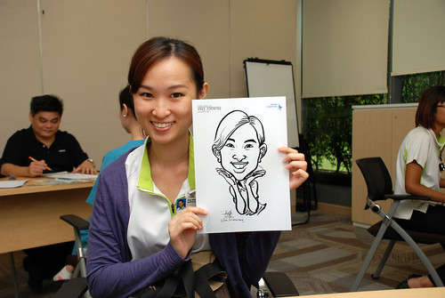 caricature live sketching for Khoo Teck Puat Hospital, Nurses' Day - 3