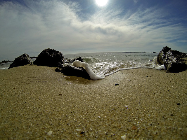 shore, coast, summer, sea, gopro