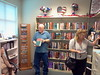SWBL Friends Boutique_ Left to Right_ Friends volunteers Mary and Jim Ayers and customer Kimberly browsing the many donated books in our Friends book store
