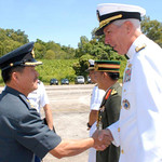 Adm. Locklear III is greeted upon arrival by Royal Brunei Armed Forces personnel